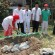 Peletakan batu pertama pembangunan Masjid AL-Falah oleh Kepala SMKN 4 Jakarta